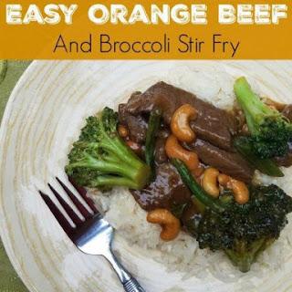 Easy Orange Beef and Broccoli Stir Fry Recipe