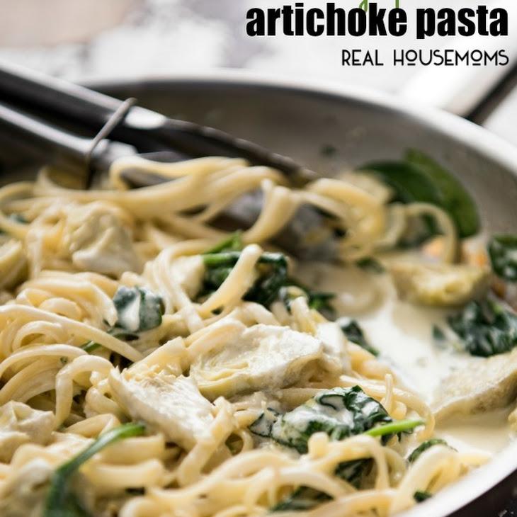 Creamy Spinach and Artichoke Pasta