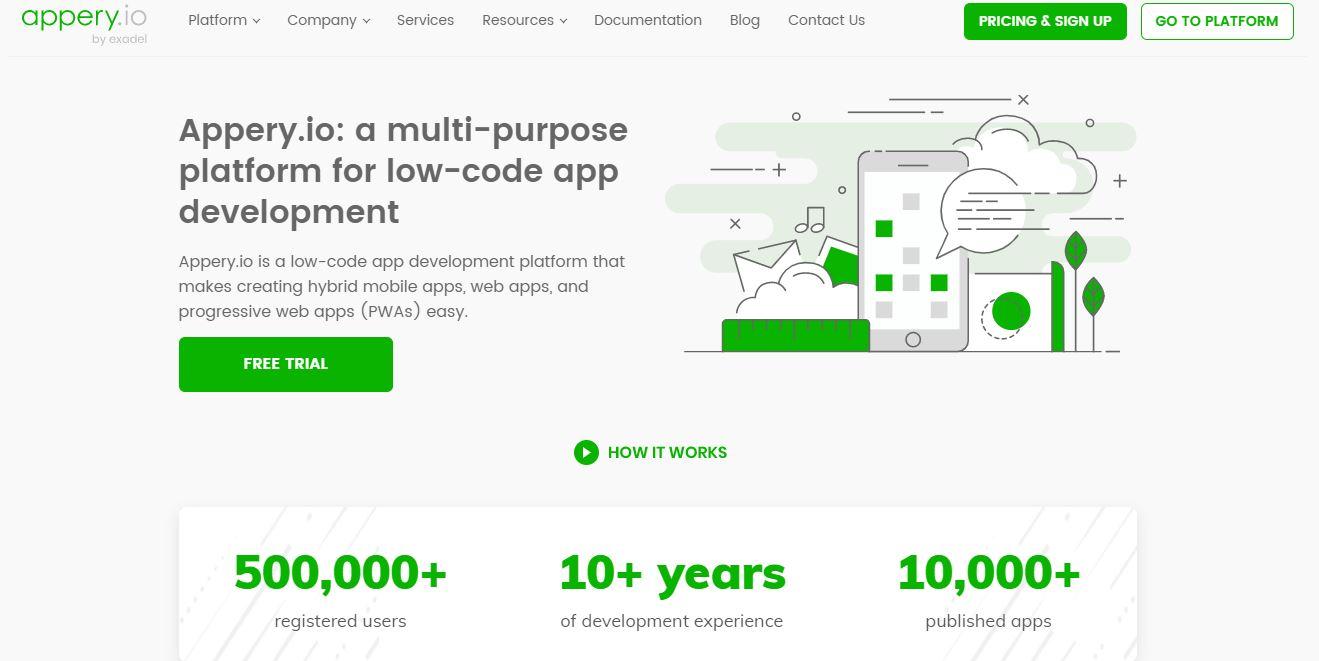 Appery.io Mobile Software Development Software