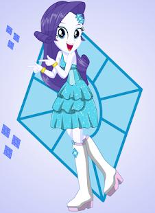 Dress up Fluttershy Rarity Rainbow Dash Pony Girl - náhled