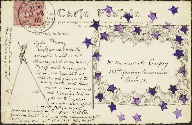 <p> <strong>L&eacute;on Coupey<br /> To Mr Marmaduke Coupey (Paris)</strong><br /> Ink on card<br /> 3 &frac12;&quot; x 5 &frac12;&quot;<br /> 1905</p> <p> Collection Pierre Coupey, Vancouver<br /> Set 2.10</p>