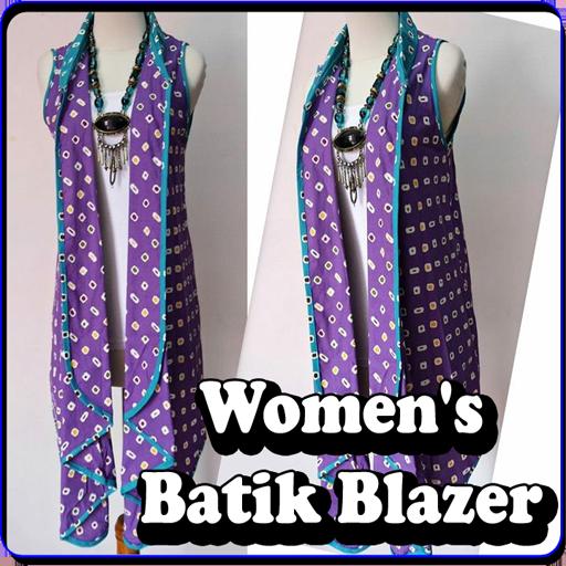 Women's Batik Blazer screenshot 1