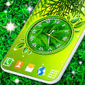 Leaves Clock App 🍃 Forest Live Wallpaper Themes icon