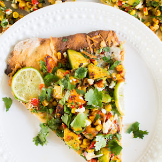 Street Corn Pizza with No-rise Crust