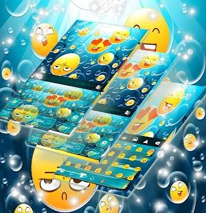 Emoji vodní klávesnice - náhled