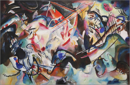 "kandinsky-composition-vi.jpg -  Wassily Kandinsky, ""Composition VI,"" 1913, oil on canvas. The Russian painter is credited with painting the first modern abstract works."