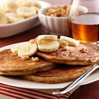 Maple Banana Bread Pancakes.