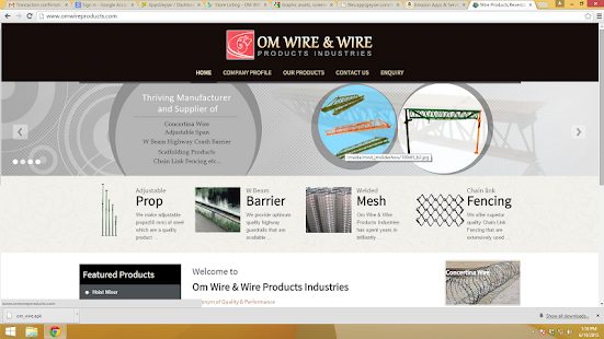 OM WIRE PRODUCTS- screenshot thumbnail