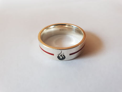 Silverring Thin Red Line