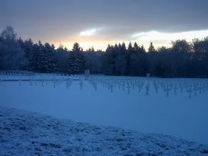 Photo: Luxembourg American Cemetery sunrise in Feb.2009