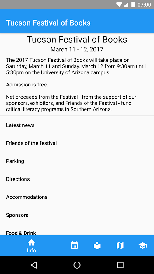Tucson Festival of Books- screenshot