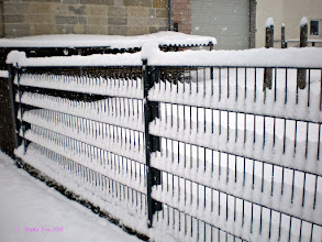 Photo: =))  The beauty of a fence in Winter.
