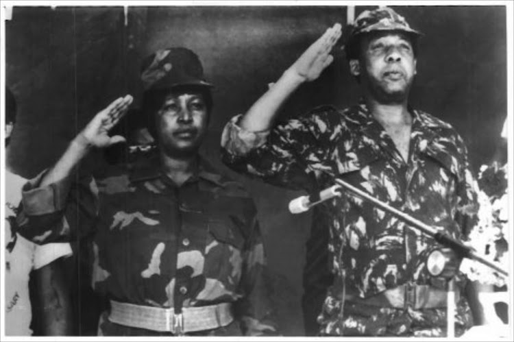 Chris Hani with Winnie Madikizela-Mandela.