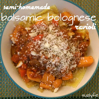 Balsamic Bolognese Ravioli (can be Gluten Free, Vegan)