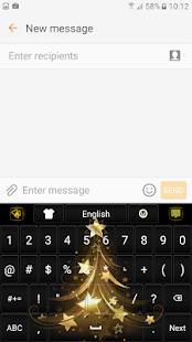 Zlatá Vánoční Klávesnice - náhled