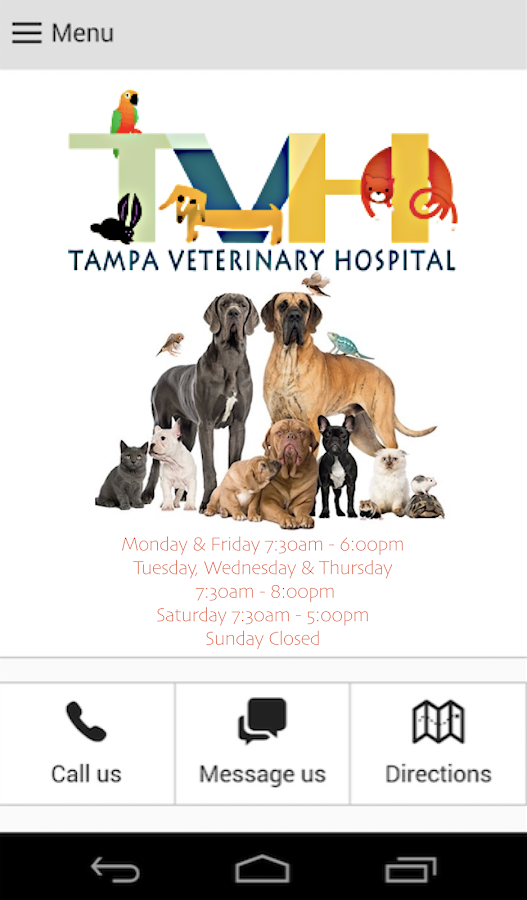 Tampa Veterinary Hospital- screenshot