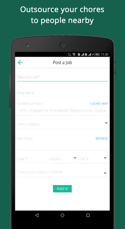 NearJobs - Nearby Odd Jobs- screenshot