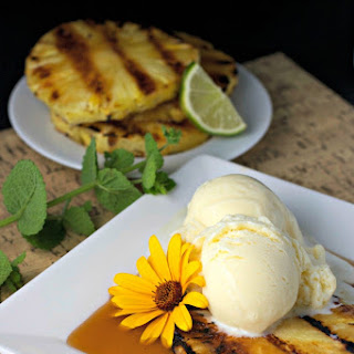 Grilled Pineapple With Brown Sugar Lime Sauce