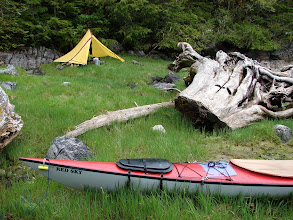 Photo: Skull Cove campsite.