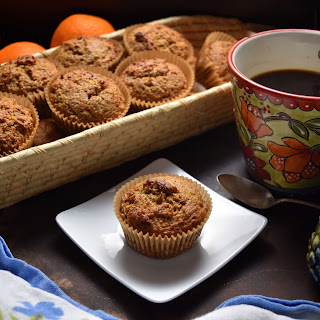 Easy Whole Grain Orange Date Muffins.