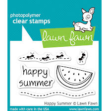 Lawn Fawn Clear Stamps 3X2 - Happy Summer