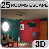 3D 25 Rooms Escape