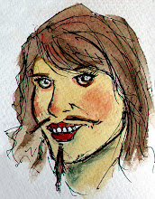 Photo: the latest Movember girl to join the party is +Ginnie Lerch ... thumbnail doodle while scanning