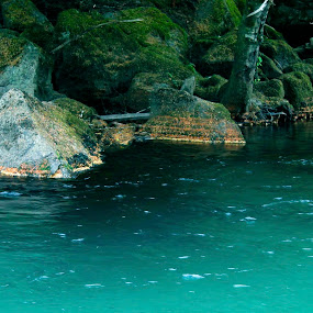 Blue Water. by Shawn Vanlith - Nature Up Close Water ( water, blue, white pass )