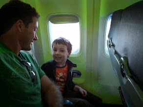 Photo: Clark and Daddy on a Plane