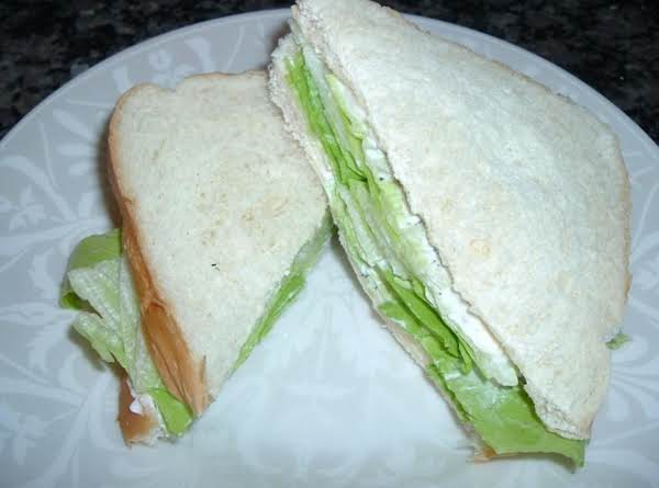Mayo And Lettuce Sandwich., My Lunch Today