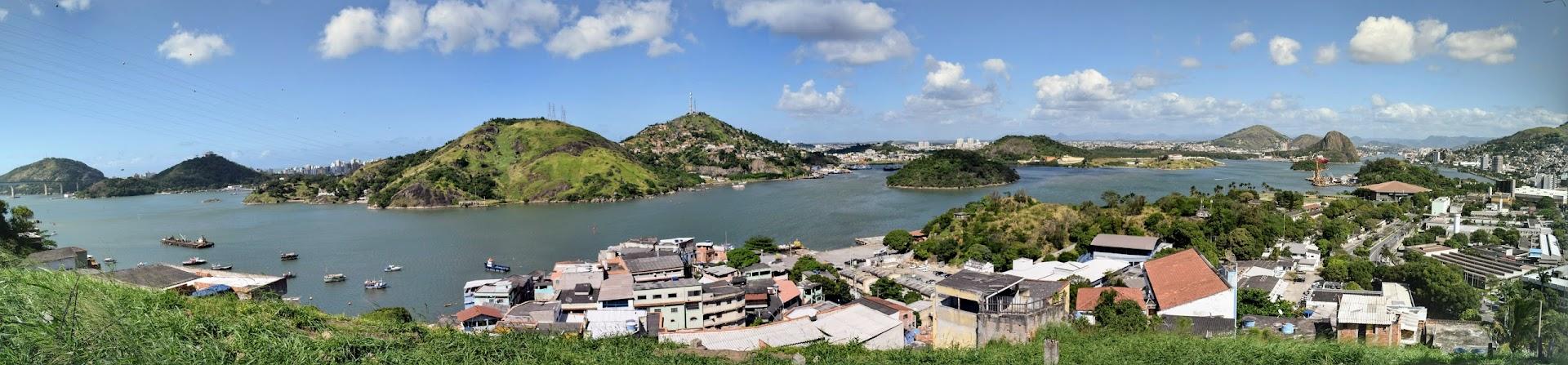 Vista panorâmica de Vila Velha e Vitória, do alto de Jesus de Nazareth