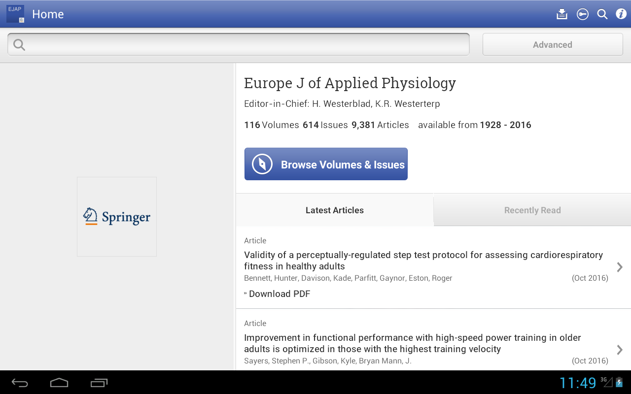 Europe J of Applied Physiology - Android Apps on Google Play