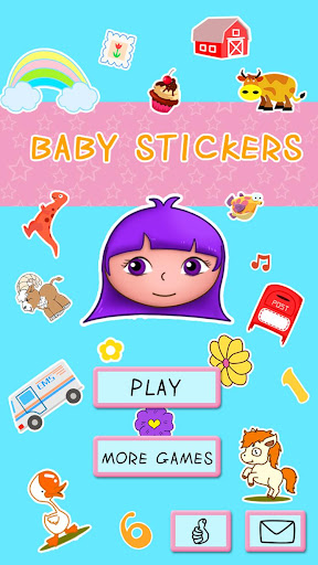 DORA幼兒園英語貼紙書 - 1-5歲嬰兒遊戲