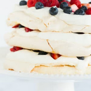 Pavlova Layer Cake with Whipped Cream & Berries Recipe