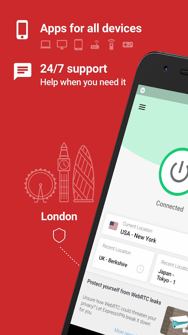ExpressVPN - Best Android VPN Screenshot 1