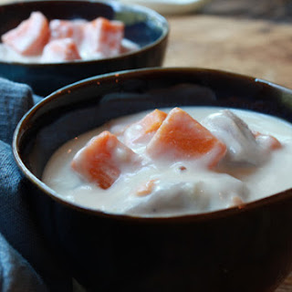 Coconut Dessert Soup with Sweet Potatoes (Bo Bo Cha Cha)