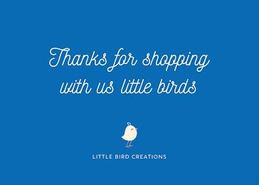 Thanks for Shopping - Thank You Card Template
