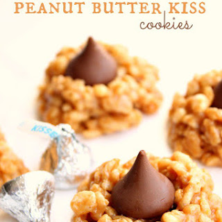 No Bake Peanut Butter Kiss Cookies.