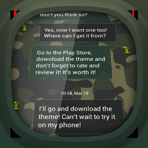 個人化必備App|GO SMS Pro Army Camouflage LOGO-綠色工廠好玩App