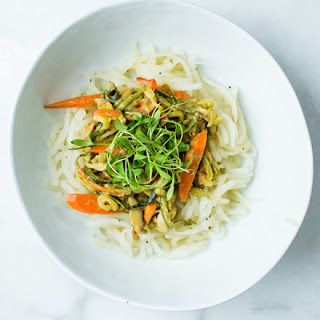 Thai Green Curry with Vegetable Noodles Recipe