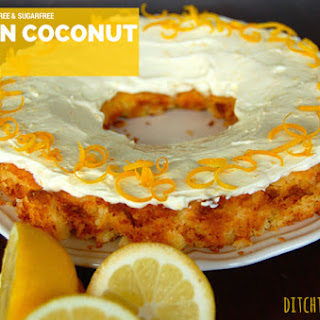 Low Carb Lemon Coconut Cake
