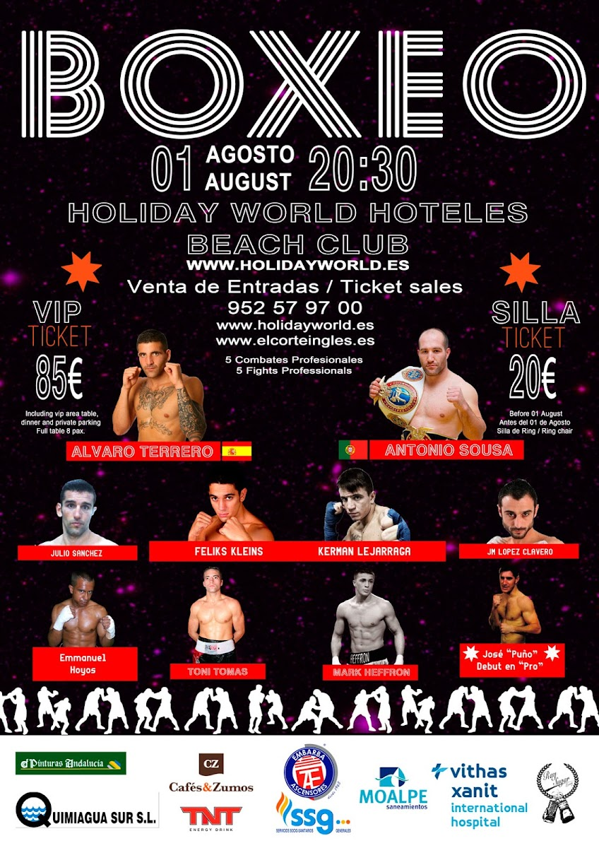 Velada de Boxeo en Benalmadena, Holiday world