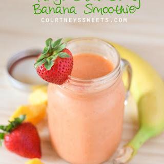 Mango Strawberry Banana Smoothie.