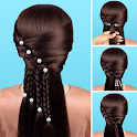 Hairstyles step by step easy, offline - DIY icon