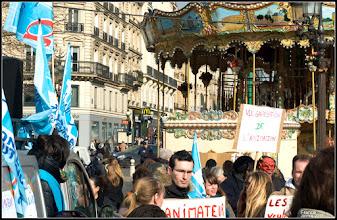 Photo: Animateur France proteste