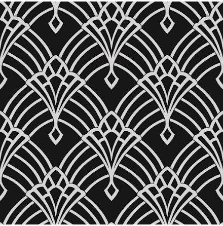 Waldorf Deco svart och silver tapet