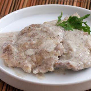 Pork Chops With Boursin Sauce.
