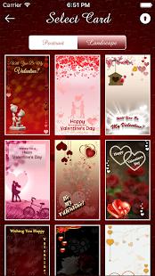 valentines cards maker sms screenshot thumbnail