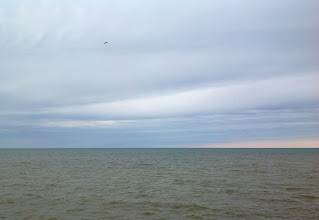 Photo: Early evening on Lake Huron as thunderstorms approach