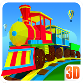 3D Train Driving Game For Kids